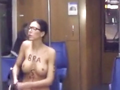Public nudity short film with total babe