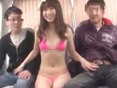 Horny Japanese chick Mahiro Aine in Hottest Fingering, Blowjob/Fera JAV video