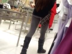 amazing gray leggings booty