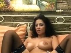 Brunette Drusilla masturbates