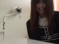 Nasty gyno played with the twat of a cute Japanese babe