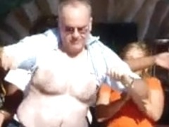 Hairy Chest Contest Grandpa Strip #01