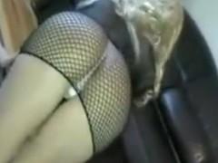 Showing my booty in fishnet dress