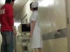 Cute nurse got into the dirty sharking adventures