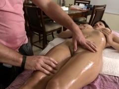 Abella comes in for her sexy rubdown