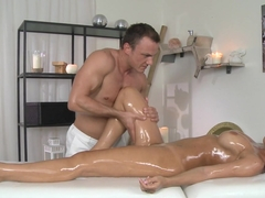 Horny pornstars Satin, Cage in Fabulous Massage, Latina porn clip