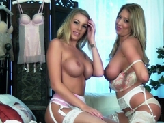 Hottest pornstars Danielle Maye, Lexi Lowe in Exotic Lingerie, Stockings xxx scene