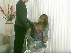 Ebony TS doll in hot scenes