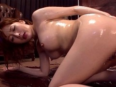 Woman Gets Oiled And Gagged