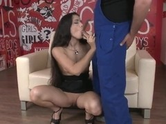 Sexy Mira Cuckold fucks with a dirty worker
