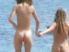 Horny voyeur loves to spy on nude people on the beach.