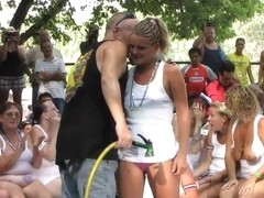 amateur wet tshirt contest at nudes a poppin festival indiana