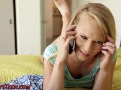 Lesbian teens toy milf