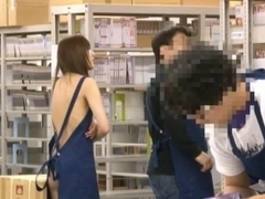 Yuu Asakura Japanese store manager enjoys sex in public