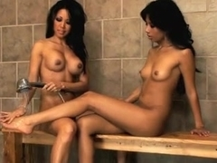 Nyomi and Teanna - Asian Lesbians Fuck in the Shower