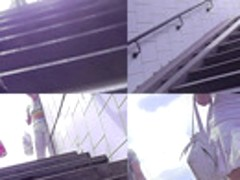 Hot upskirt porn with amateur blonde in a public place