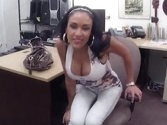 Big boobs latina pawns her twat and fucked by horny pawn man