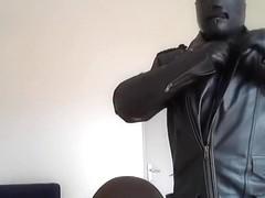 biker leather smoke mask