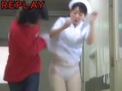 Girl got under sharking in medical clinic corridor