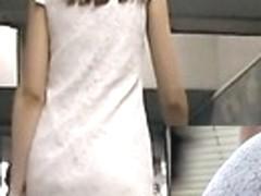 Subway gal in spy upskirt movie scene