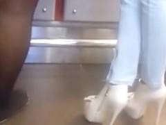 Awesome high heels at lunch