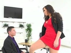 Busty boss Sydney Leathers gets banged