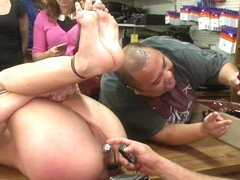 Hot Blonde Fucked And Disgraced In A Typewriter Shop - PublicDisgrace
