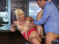 Rhylee Richards suddenly attacked by her handsome husband right at the kitchen