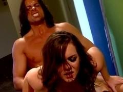 Hardcore action with amateurs Natasha Nice and Nick Manning.