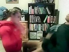 Amateur blowjob interracial