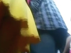 yellow short skirt upskirt sexy ass with a few more thrown in