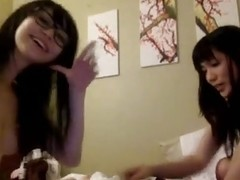 Jazz and Minnie - Non-Professional Oriental Webcam Cuties - Lesbo Show three