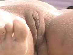Nudist beach voyeur films sleeping beauty's pussy
