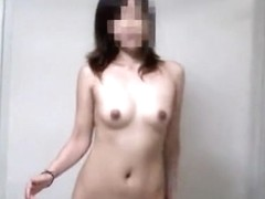 Sexy doll is dancing naked flashing small tits and hot bush