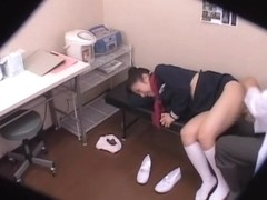 Japanese cunt fucked in a rough manner in the medical clinic