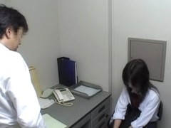 Perfect Japanese stripped in the office by her kinky boss