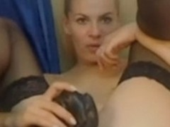 Hot russian webcam girl fucking high heel