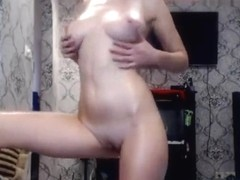 Katyaustinova caresses herself and her pussy