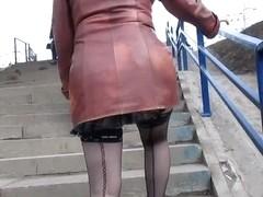 Sexy stockings upskirt