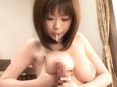 Incredible Japanese model Rio Hamasaki in Amazing Big Tits JAV clip