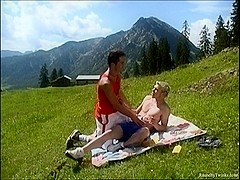 RaunchyTwinks Video: Constantin's Outdoors Fuck With Mark