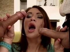 Lustful slut Tiffany Doll double penetrated