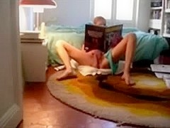 Spying my GF masturbating in daybed room. Hidden webcam