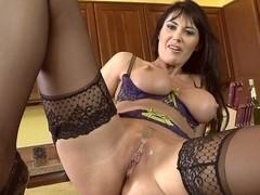 Teasing and fucking MILF Eva Karera