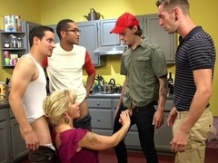 Wet Hot American Stepmom: MILF/COUGAR gangbanged by stepson & friends!