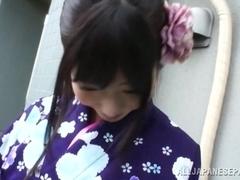 Hot chick Arisa Nakano Japanese cosplay fucking action