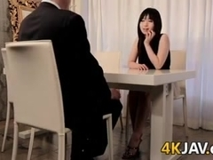 Japanese Beauty Giving A Blowjob