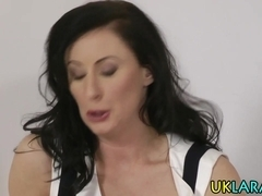 Brit mature slut jizzed