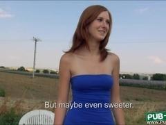 Linda Sweet pounded in an open fields