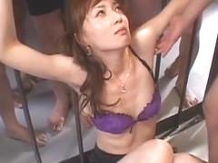 Crazy Japanese model Kaede Fuyutsuki in Best Gangbang, Lingerie JAV clip